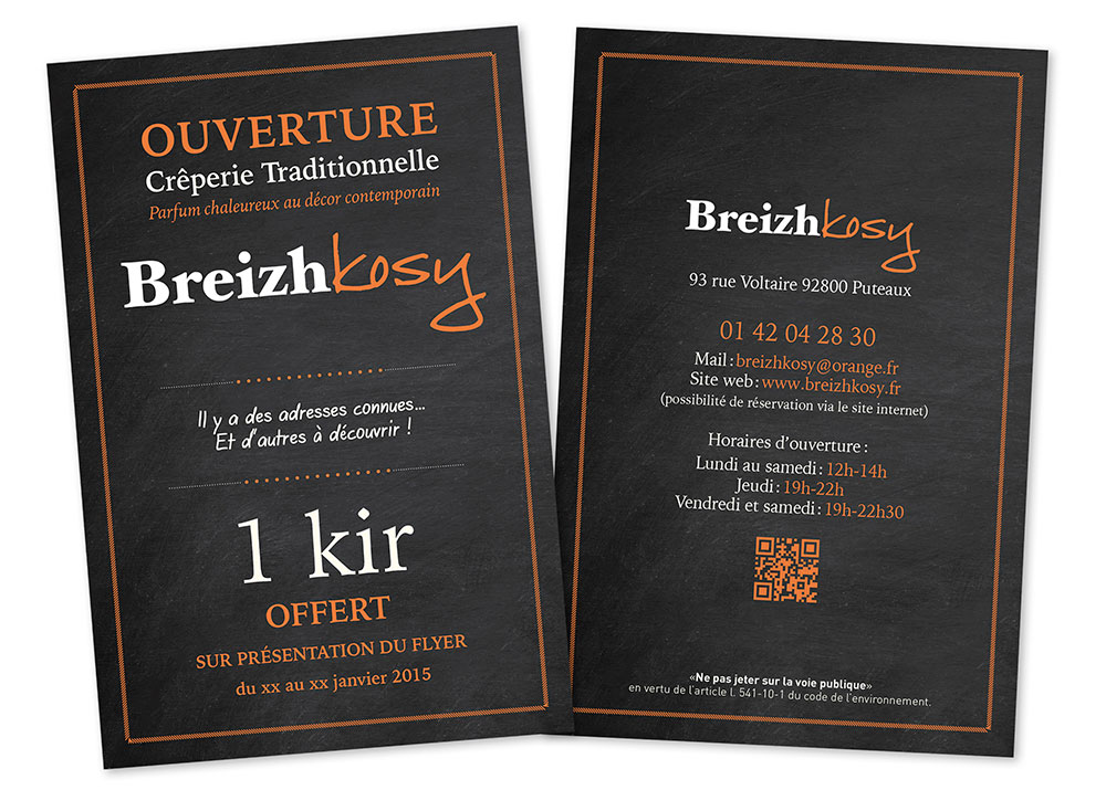 graphiste création flyer restaurant